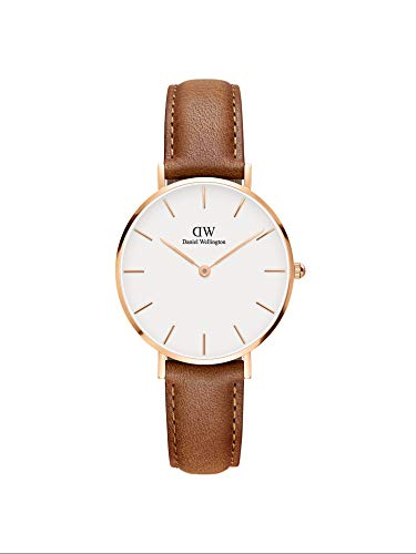 Daniel Wellington Petite Durham, Hellbraun/Roségold Uhr, 32mm, Leder, für Damen