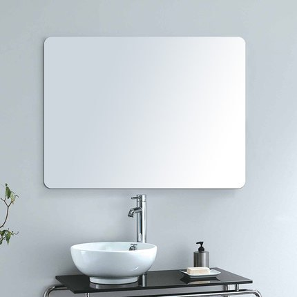 Alice 36''x 28'' Frameless Rectangle Vanity Bathroom Mirror Wall-Mounted Mirror For Living Room