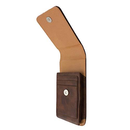 caseroxx Handy Tasche Outdoor Tasche für Archos 55 Cobalt Plus, mit drehbarem Gürtelclip in braun
