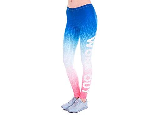 Alsino Leggings Gym Leggins für Damen - One Size Einheitsgröße - All-Over-Print Motive, Work Out Bunt (LEG-156)