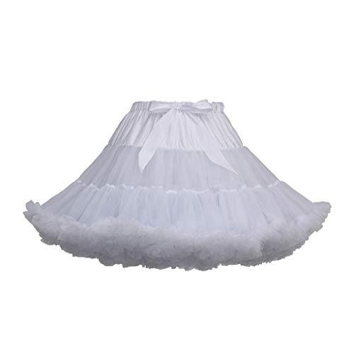 Zarupeng Damen Mädchen Party Tanz Ballett Tutu Röcke Einfarbig Kurz Retro Petticoat Minirock Unterrock Prinzessin Tüll