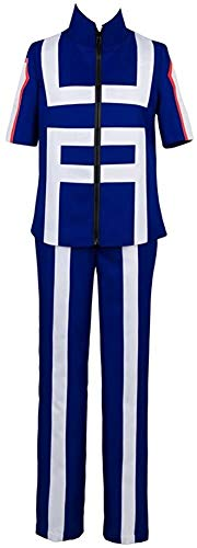 DONGYAO Uniforme en lin My Hero Academia Izuku Midoriya - Costume pour homme Katsuki Bakugo High School Gym - Uniforme d'entraînement pour femme adulte - Couleur : bleu, taille : M