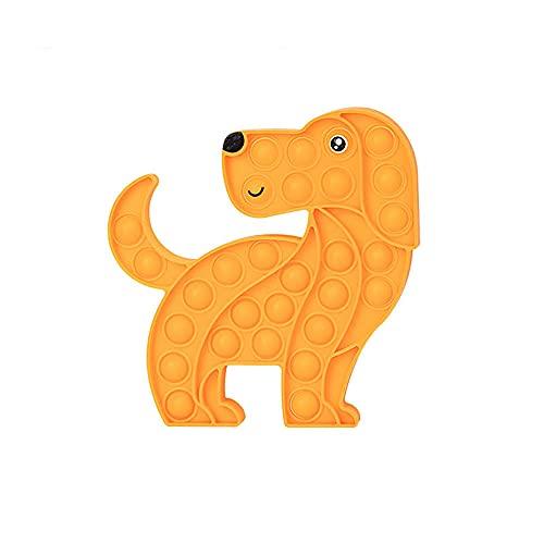 Fidget Toy Antistress Spielzeug Anti Stress Sensorik Popit Figetttoys, Simple Dimple Fidget Toy Figuren Ball Figet Squishy Bubble Push Pop für Erwachsene und Kinder (Hund)