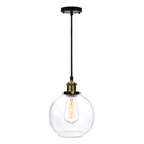Frideko Vintage Ball Glass Ceiling Pendant Light -7.8 inch...