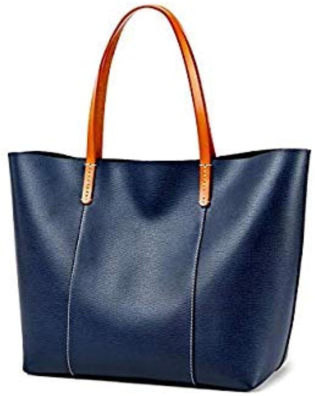 Bloomerang Sales&hot ZOOLER New Woman Leather Bag Tote Handbags Bolsa Feminina Functional Travel Bag Woman Bags Large Capacity B232 color blueee