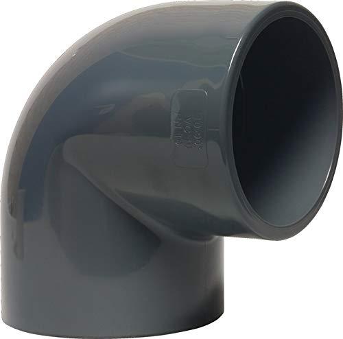 Liqui Pipe GmbH PVC Manchon coudé 90 ° adhésives 32 mm Gris Manchon adhésives x Manchon adhésives PN16 Angle PVC U