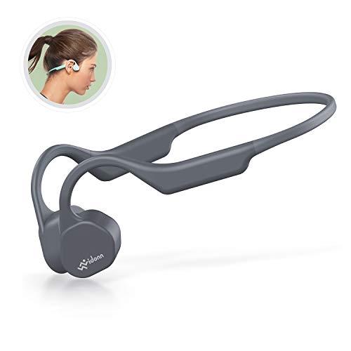 Bone Conduction Headphones Bluetooth V5.0 - Vidonn F3 Mini Open Ear Wireless Sports Headset Sweatproof w/Mic - for Cycling Running Driving Gym - Grey