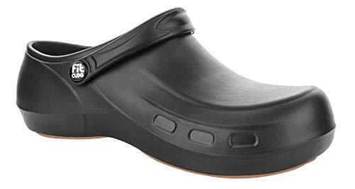 FitClog - Power 003 - Calzado especializado Certificado - diseñado para largas Horas de Trabajo diarias.(Negro)