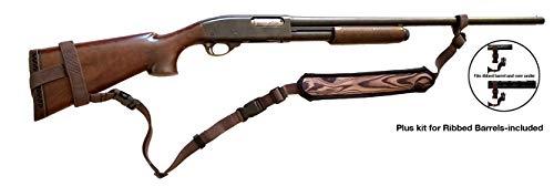 Ez GunsSling Universal Non-Swivel Gunsling (WB) for Rifles, Shotguns and Favorite Firearm Woodgrain Brown