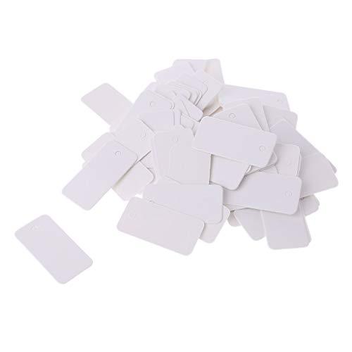 VIcoo 100 stuks vintage kraftpapier cadeaukaarten hangende etiketten sieradenetiketten dag craft decor - bruin