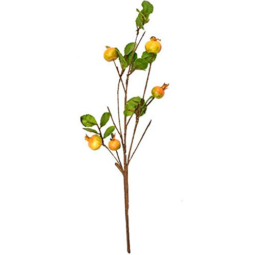 ZJJZH Kunstbloemen Oranje cyaan rozenbottels kunstmatige plant fruit gebladerte decoratieve florale ornamenten land Bloemenproducten inclusief: Kunstbloemen, Decoratieve Kunstplanten.