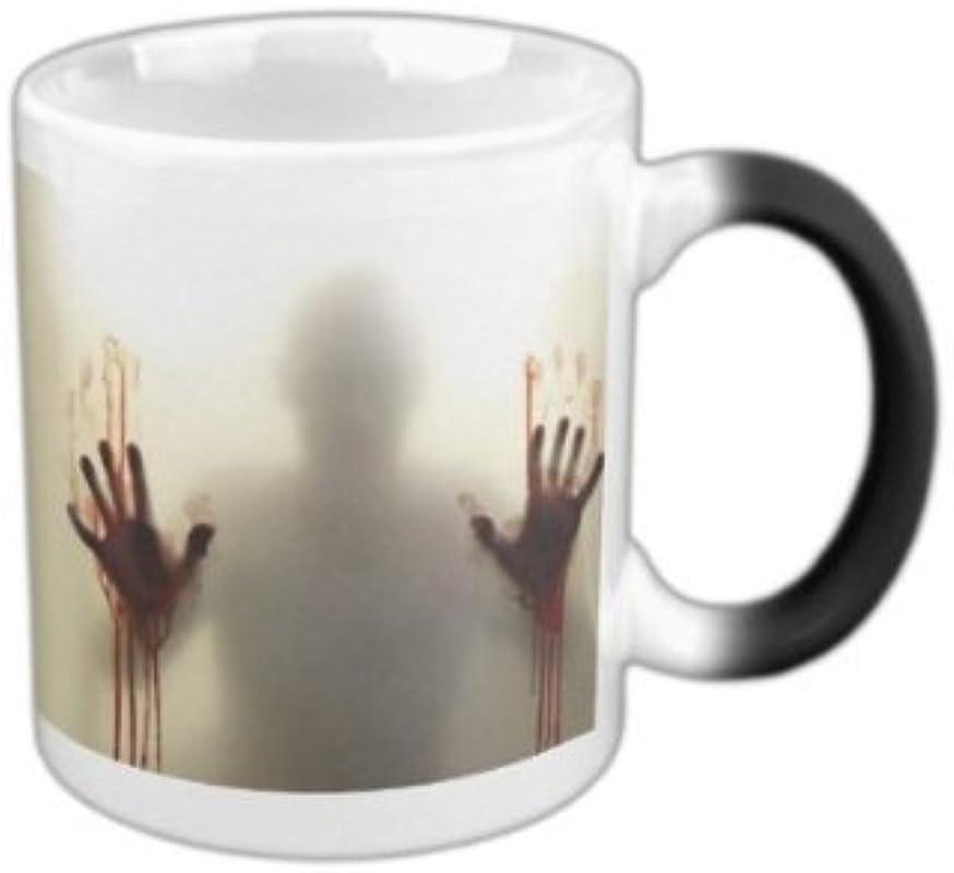 KEYIGOU Morphing Mugs The Walking Dead Coffee Tea Milk Hot Cold Heat Sensitive Color Changing Black And White 11 Oz Ceramic Mug