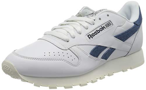Reebok CL LTHR, Zapatos para Correr Hombre, FTWWHT/Chalk/VECNAV, 42.5 EU