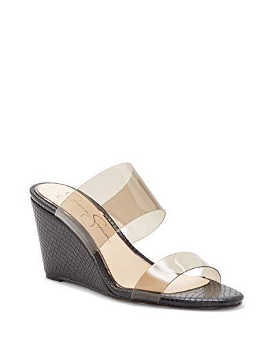 Jessica Simpson Damen Cilvey Keilabsatz-Sandale, Smoke, 41.5 EU