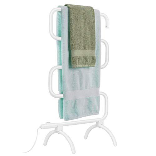 EEUK Radiador toallero electrico bajo Consumo Blanco, Calentamiento Inteligente de Temperatura Constante Adecuado para Hotel/salón de Belleza Secador de Toallas de bañoUS Plug