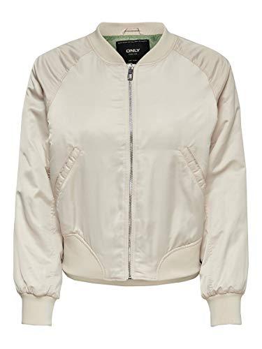 Only Women's Malcom Bomber Jacket Beige in Size X-Small