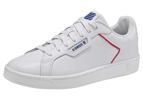 K-Swiss mens Clean Court Ii Cmf Sneaker, White/Corporate, 9.5 US