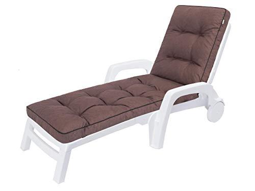 Auflagen für Deckchair, Liegenauflage, Gartenliege Auflage 201x55x8 cm Bequeme Polsterauflage für Sonnenliege, Liegestuhl, Kissen in Braun