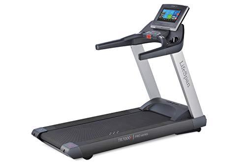 LifeSpan Fitness TR7000iC Laufband, Bluetooth für die Synchronisation mit Ihrem Tablet und Smartphone, WiFi für Netflix und YouTube, 15% Neigung, Lauffläche 152 x 56 cm, beladen bis 181 kg - faltbar