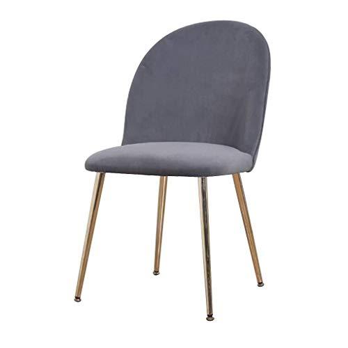 Coiffeuse Tabouret Avec Dossier Chaise ergonomique à manger, Chaise de maquillage, des chaises modernes de loisirs Side, Jambes Fer et haute densité Rebond éponge, Café Dressing Room Cuisine Bureau