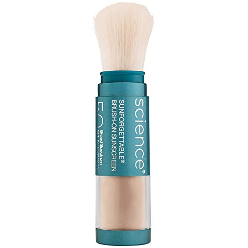 of shave brushes dec 2021 theres one clear winner Colorescience Brush-On Sunscreen Mineral Powder for Sensitive Skin, Medium