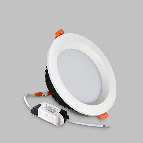 De panel plano comercial Iluminación aluminio rasante montado techo lámpara redonda creativa LED empotrado Downlights Oficina Europea ahorro energía comercial Embedded integrado Montaje rejilla Luz