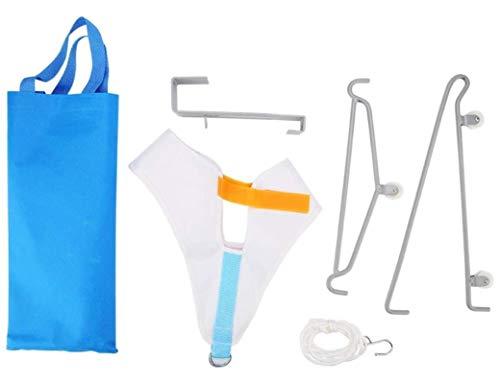 HJQL Kit De Tracción Cervical, Dispositivo De Tracción para El Cuello De La Puerta, Tracción Cervical Ajustable para Aliviar El Dolor De Cuello (34 X 26 Cm)
