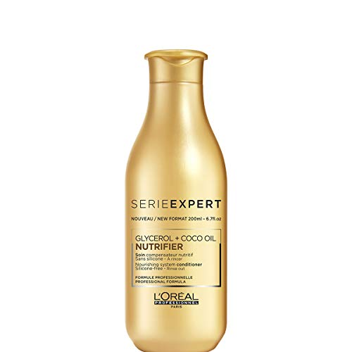 L'Oréal Professionnel Paris Serie Expert Nutrifier Conditioner, feuchtigkeitsspendende Pflegespülung für trockenes Haar, Haarpflege ohne Silikone, mit leichter Textur ohne zu beschweren, 200 ml
