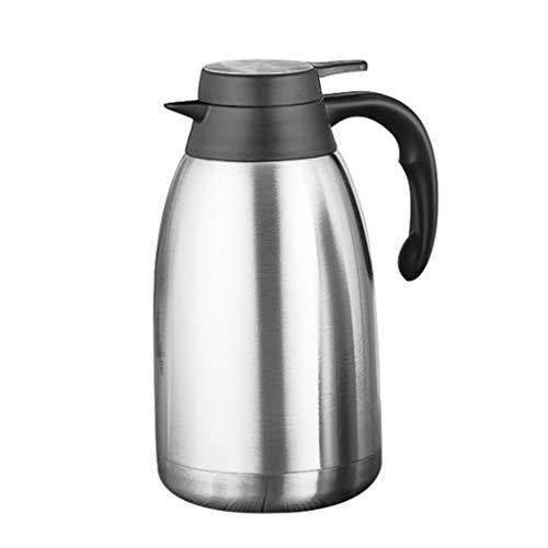 ZChun 1,5 / 2L roestvrijstalen thermoskan, dubbelwandig vacuümigeïsoleerd, koffiepotten met drukknop