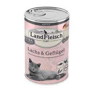 Landfleisch Cat Adult Gelee Lachs&Geflügel | 6X 400g Katzenfutter