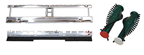 3 teiliges Spar Set zur Reparatur Vorwerk EB 350 351 bestehend aus 1 x Bodenblech, 1 x Frontbürste, 1 x Ersatzbürsten