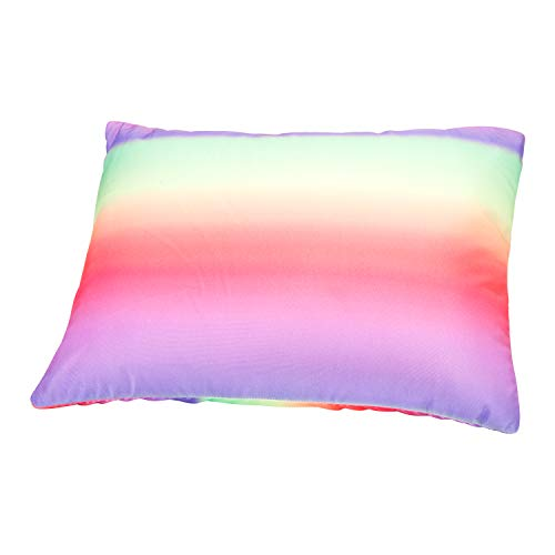 Fabskiy Squishy Neck Microbead Throw Pillow, 16 x 12 inches Soft Travel Body Bed Pillow Odorless Bean Pillow for Kids Adult Chair Sleeping Car Seat (Summer Day, Removable Cover)