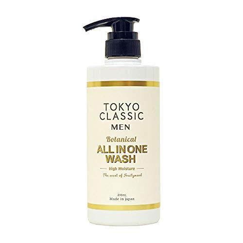 TOKYO CLASSIC(トウキョウクラシック) ALL IN ONE WASH オールインワンウォッシュ(全身用洗浄料) ボディソープ 上品で優しいフルーティーウッドの香り 490ミリリットル (x 1)