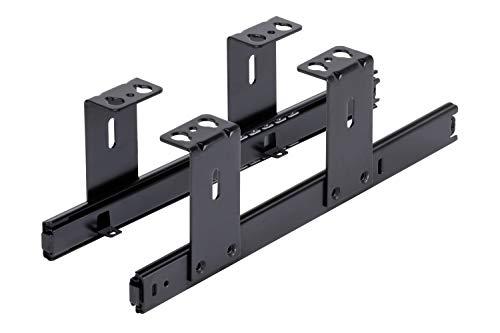 FIX&EASY Guías para bandeja y cajón, portateclados extraible deslizable negro 300mm, con extracto para teclado, ratón y laptop