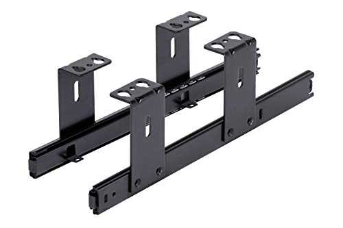 FIX&EASY Coulisses de clavier roulement à billes 300mm glissière noir pour tablettes ou tiroir assemblage sous la table