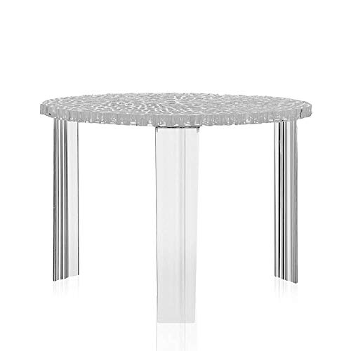 Kartell T-Table table blasse h.36 cm transparente cristal