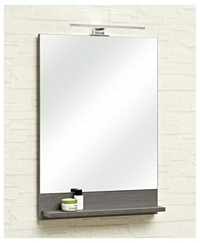 Pelipal - Alika - Spiegel, 50 cm, Ablage, LED Aufbauleuchte mit 230V LED 4,8 Watt, EEK: A+ (Spektrum A++ - A)