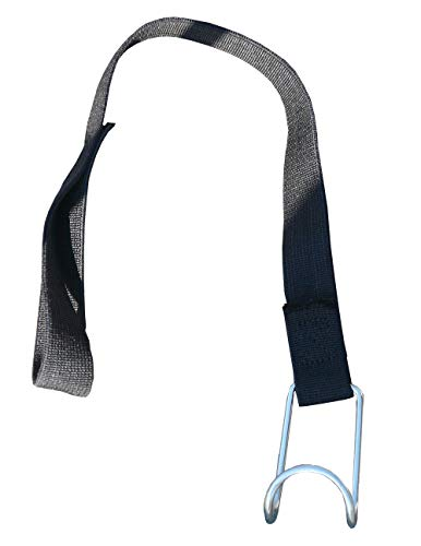 Set van 10 spanbanden van textiel rekbaar met 1 haak en 1 lus voor rolcontainer rolrooster transportgordel