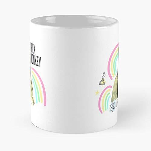 Cosima Rainbow Niehaus Orphan Black - Taza de café de cerámica de mármol blanco