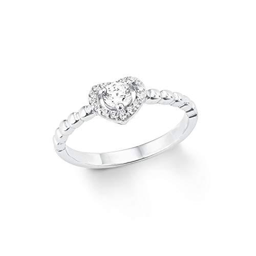 amor Ring für Damen Silber 925, Herz