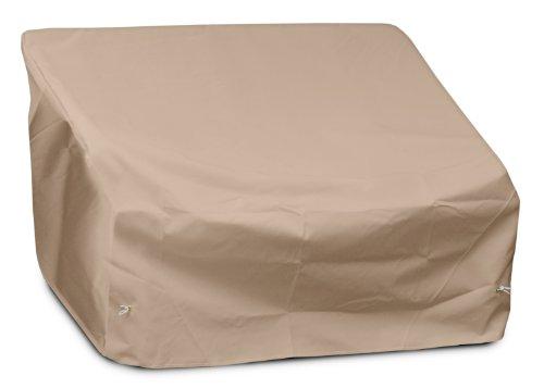 KOVERROOS Weathermax 49147 Jeu Loveseat/Housse de canapé, 129,5 cm (L) x 83,8 cm de diamètre 83,8 cm de Hauteur, Toast