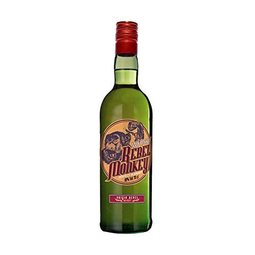 Rebel Monkey Whisky Rebel Monkey | 700ml 40°%Vol | Te transportará a un mundo de tradición centenaria con su gran cuerpo y aroma | Cuidada fermentación y justa intensidad - 700 ml
