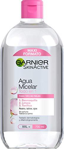 Garnier Skin Active - Agua Micelar Clásica Todo en Uno, Pieles Normales, Formato Maxi, 700 ml