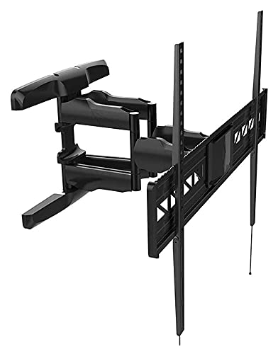 TabloKanvas TELEVISOR Montaje de Soporte Ajustable de Gran tamaño TELEVISIÓN LCD Soporte de TV Giratorio telescópico de Rack (Color : Black)