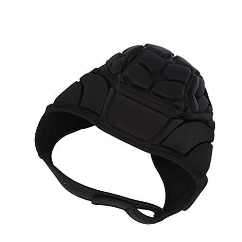 BESPORTBLE Rugby Helmet Soccer Headgear Scrum Cap Flag Football Headguard Adjustable Soft Helmet for Youth Adults Black