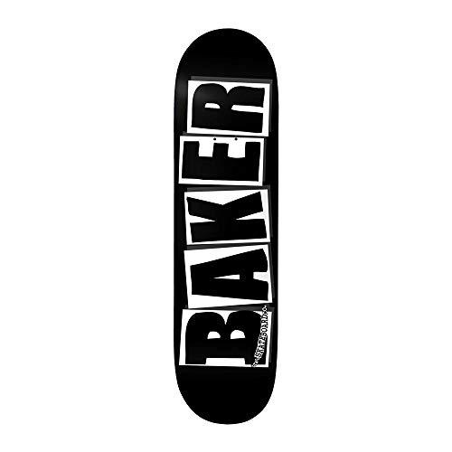 Baker Skateboards Skateboard-Brett / Deck, 20,6 x 80 cm, mit Logo von Marke, Schwarz / Weiß