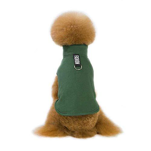 kova Modische Hundeweste, Warmer Herbst- und Winter-Haustiermantel, Hundebaumwollmantel, einfarbig