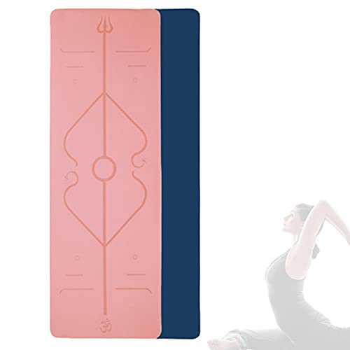 KOKIN Esterilla de yoga - Esterilla de yoga antideslizante de TPE ecológica para ejercicio, de doble cara y tapetes para principiantes de yoga en casa 183 cm x 61 cm x 6 mm/B