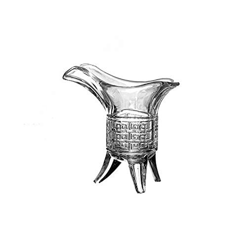 Raheem Copa de Vino de Tres Patas Copa de Cristal de Cristal de Cristal de Cristal Imperial de Cristal de Vidrio Chino para Beber Fiesta de la Fiesta decoración de la casa (Color : A)