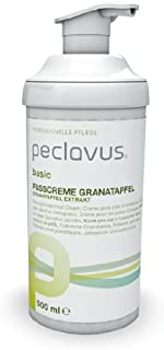 Peclavus Basic Fußcreme Granatapfel, Fusspflegecreme gegen Hornhautbildung, 500 ml